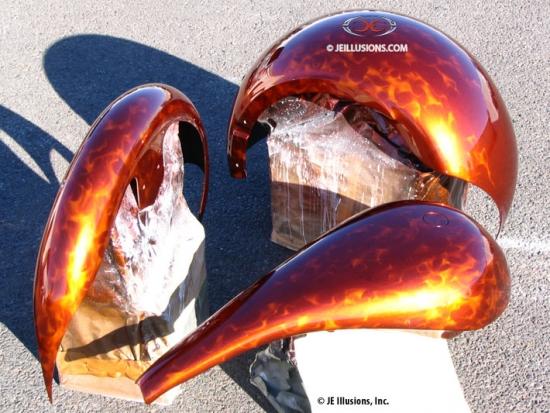 Tangerine Jeweling Custom Cutting Edge Illusions