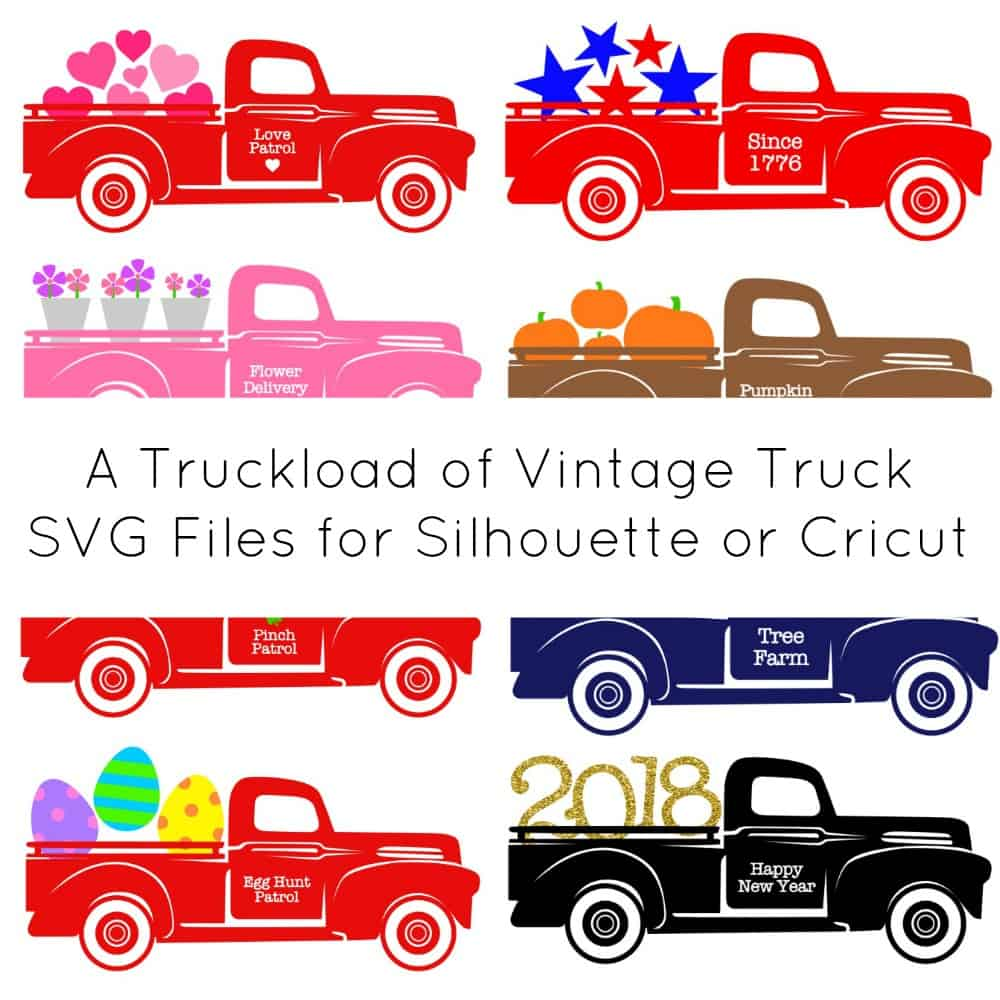 Download A Year of Free Red Truck Holiday SVG Cut Files - Cutting ...