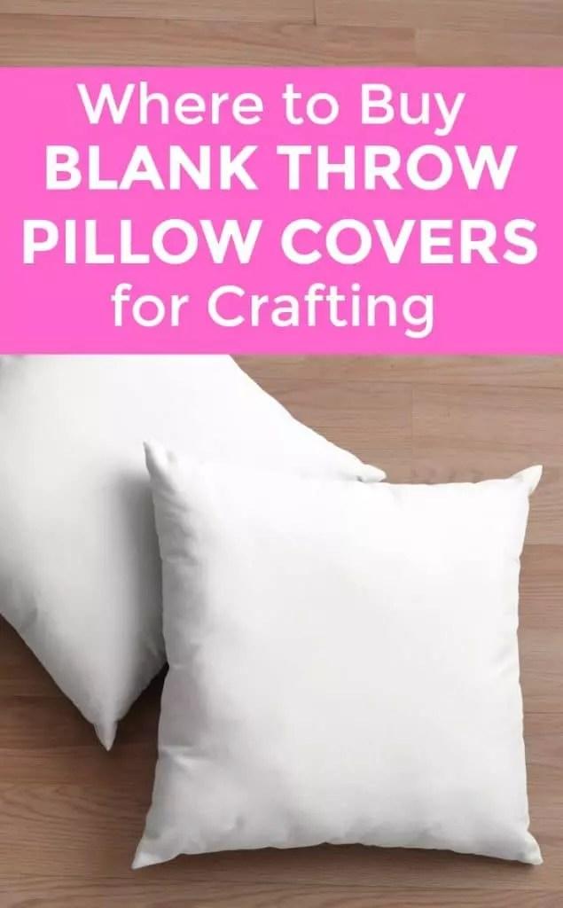 blank pillow covers bulk online