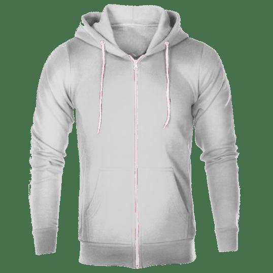 596536a12 Plain White Hoodie Jacket with zipper – Cutton Garments