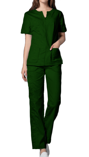 ece12e24f9d Moss Green Scrub Suit Set – Cutton Garments