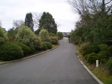 The site entrance - after works are completed
