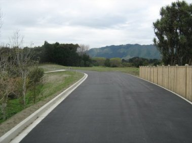 The completed right of way
