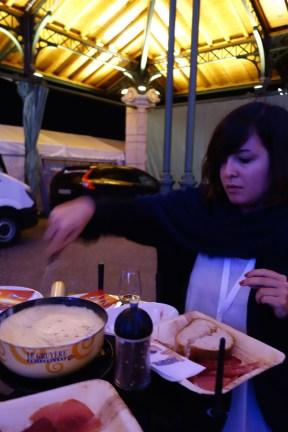 Enjoying a little fondue