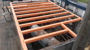 Opbouw Stuurhut: Spanten en Vloer