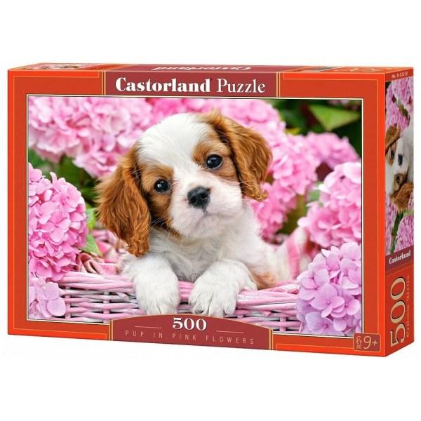 Cuy Games - 500 PIEZAS - PUP IN PINK FLOWER -