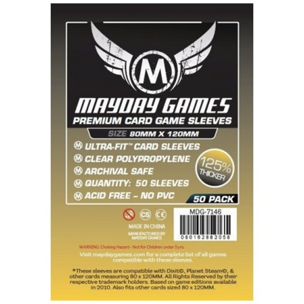 Cuy Games - FUNDA 80MMX120MM 50PACK PREMIUM -