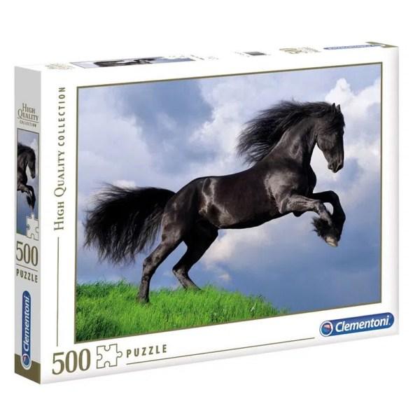 Cuy Games - 500 PIEZAS - FRESIAN BLACK HORSE -