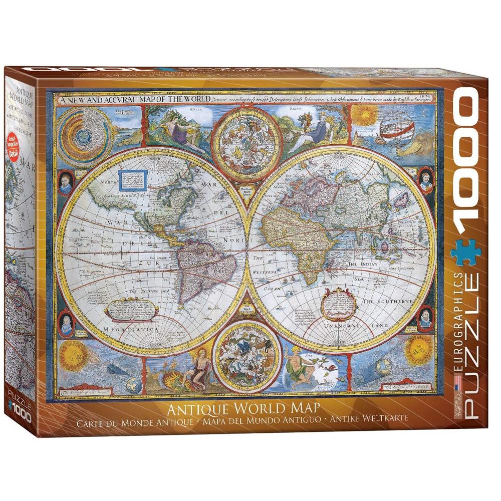 Cuy Games - 1000 PIEZAS - ANTIQUE WORLD MAP -