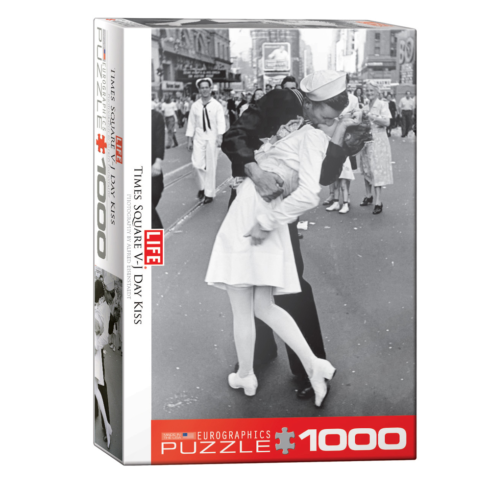 Cuy Games - 1000 PIEZAS - V-J DAY KISS IN TIMES SQUARE BY ALFRED EISENSTAEDT -