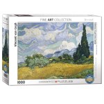 Cuy Games - 1000 PIEZAS - WHEAT FIELD WITH CYPRESSES BY VINCENT VAN GOGH -