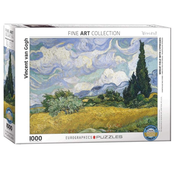1000 PIEZAS – WHEAT FIELD WITH CYPRESSES BY VINCENT VAN GOGH