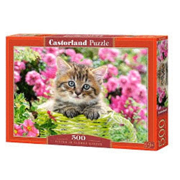 Cuy Games - 500 PIEZAS - KITTEN IN FLOWER GARDEN -