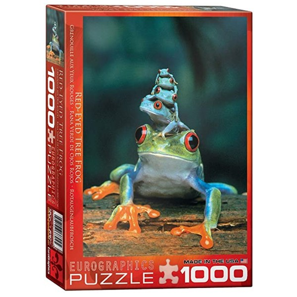 Cuy Games - 1000 PIEZAS - RED-EYED TREE FROG -