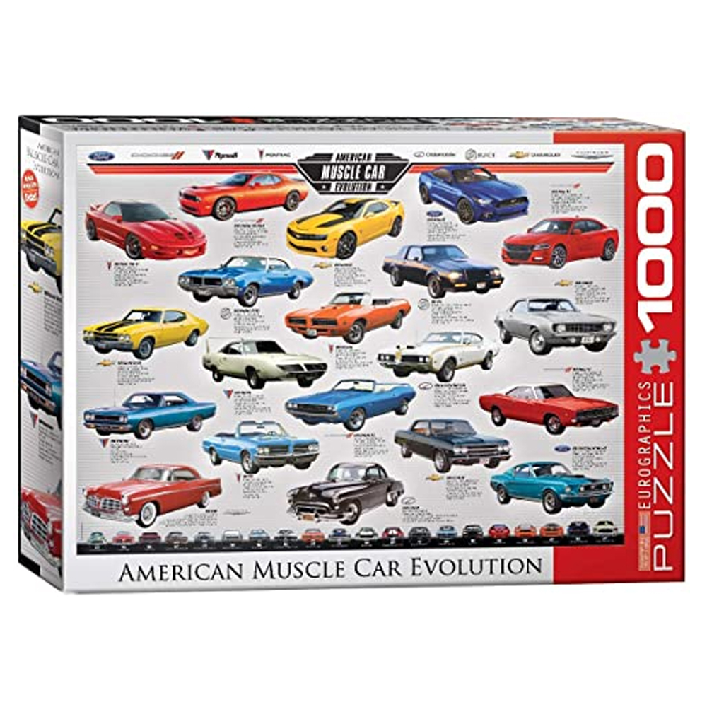 Cuy Games - 1000 PIEZAS - Muscle Car Evolution -