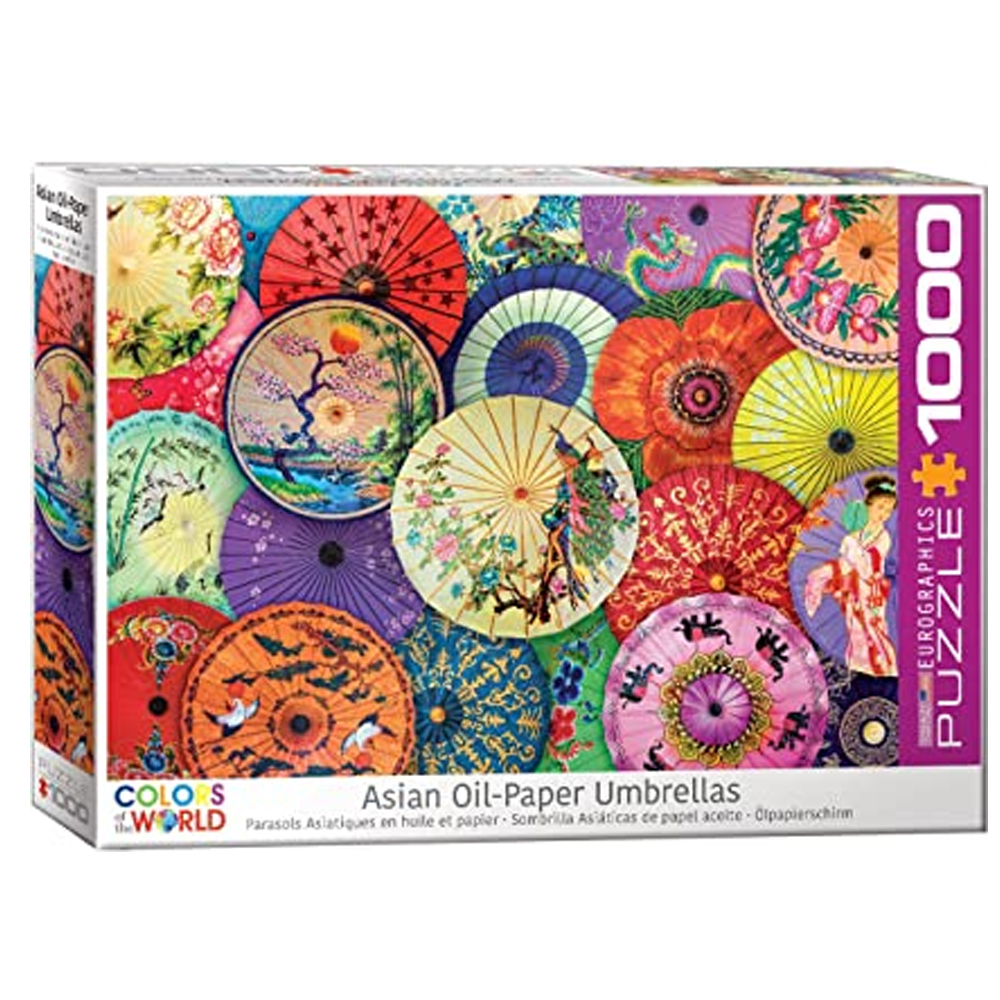 Cuy Games - 1000 PIEZAS - Asian Oil Paper Umbrellas -
