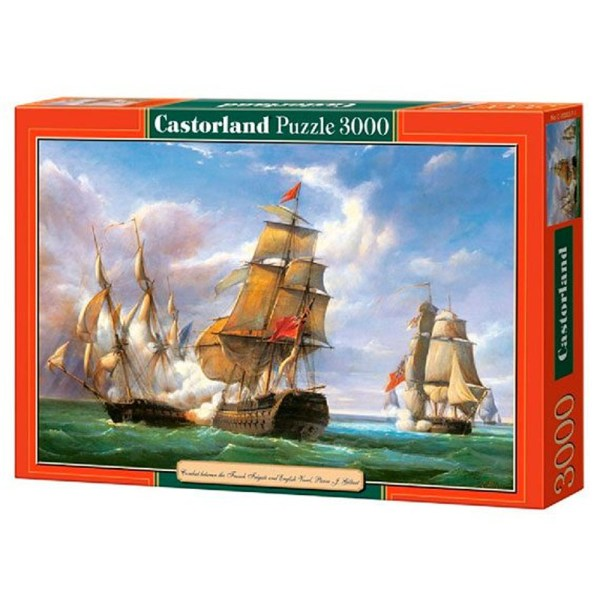 Cuy Games - 3000 PIEZAS - COMBAT BETWEEN THE FRENCH FRIGATE AND ENGLISH VESSEL. -