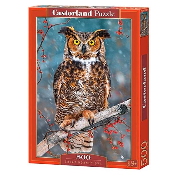 500 PIEZAS – GREAT HORNED OWL