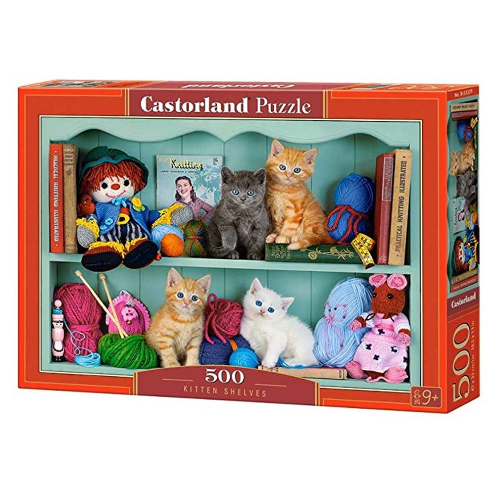 Cuy Games - 500 PIEZAS - KITTEN SHELVES -