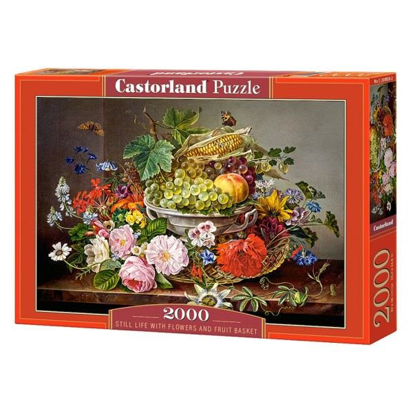 Cuy Games - 2000 PIEZAS - STILL LIFE WITH FLOWERS AND FRUIT BASKET -