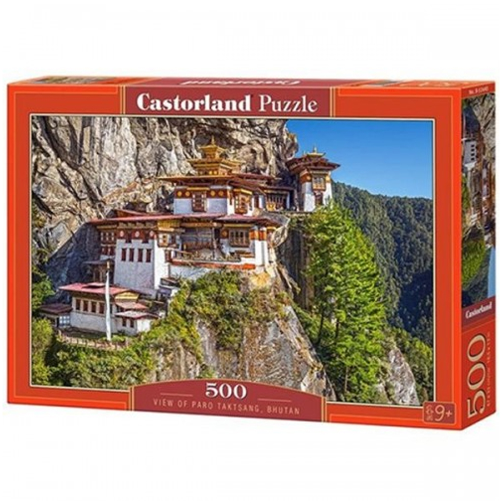 Cuy Games - 500 PIEZAS - VIEW OF PARO TAKTSANG, BHUTAN -
