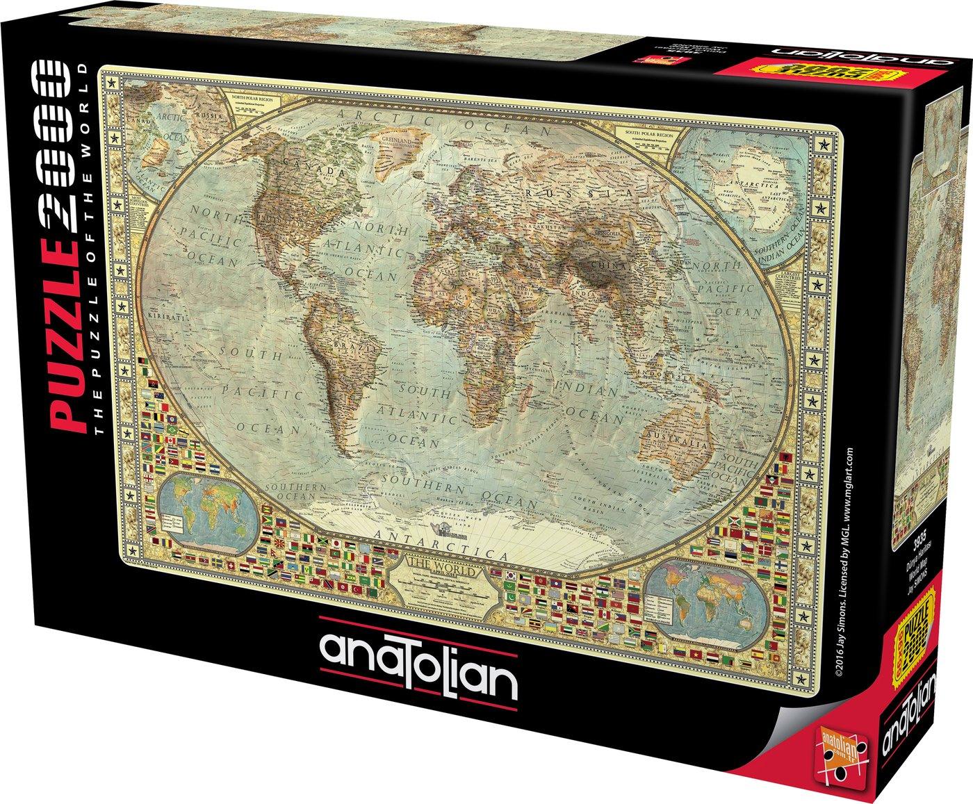 Cuy Games - 2000 PIEZAS - WORLD MAPS -