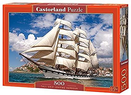 500 PIEZAS – TALL SHIP LEAVING HARBOUR