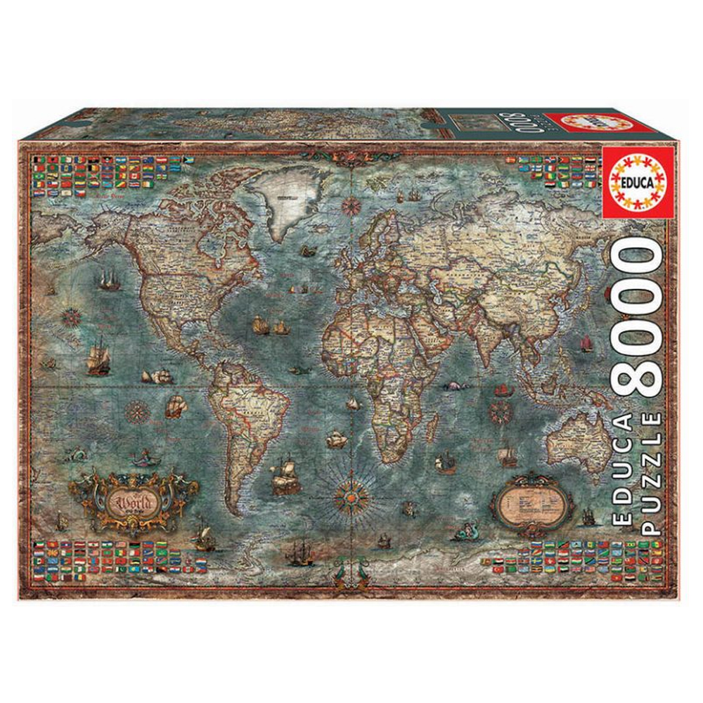 Cuy Games - 8000 PIEZAS - MAPAMUNDI HISTORICO -