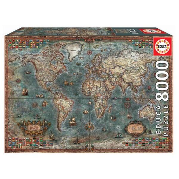 8000 PIEZAS –  MAPAMUNDI HISTORICO