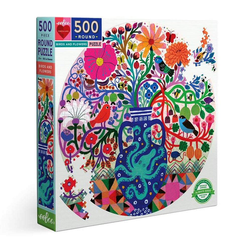 Cuy Games - 500 PIEZAS - BIRDS AND FLOWERS -