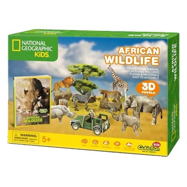 Cuy Games - 69 PIEZAS - AFRICAN WILDLIFE KIDS CF -