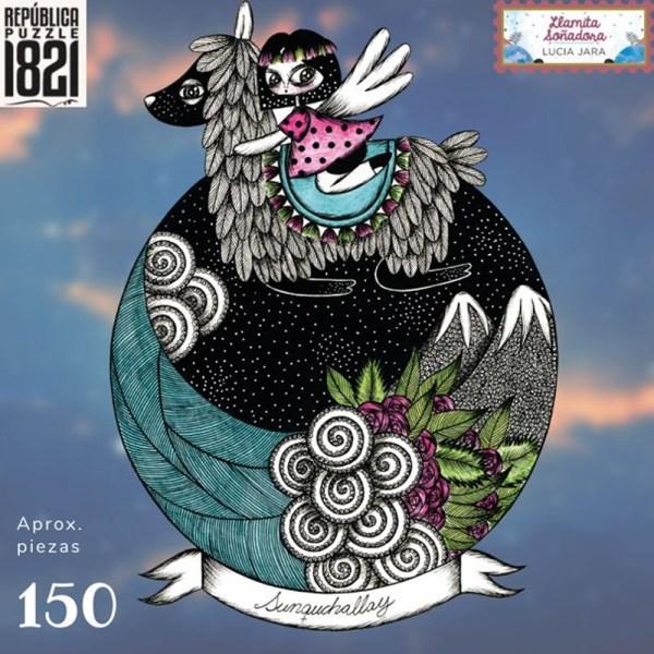 150 PIEZAS – LLAMA SOÑADORA BY LUCIA JARA