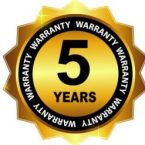5-year Warranty Sign