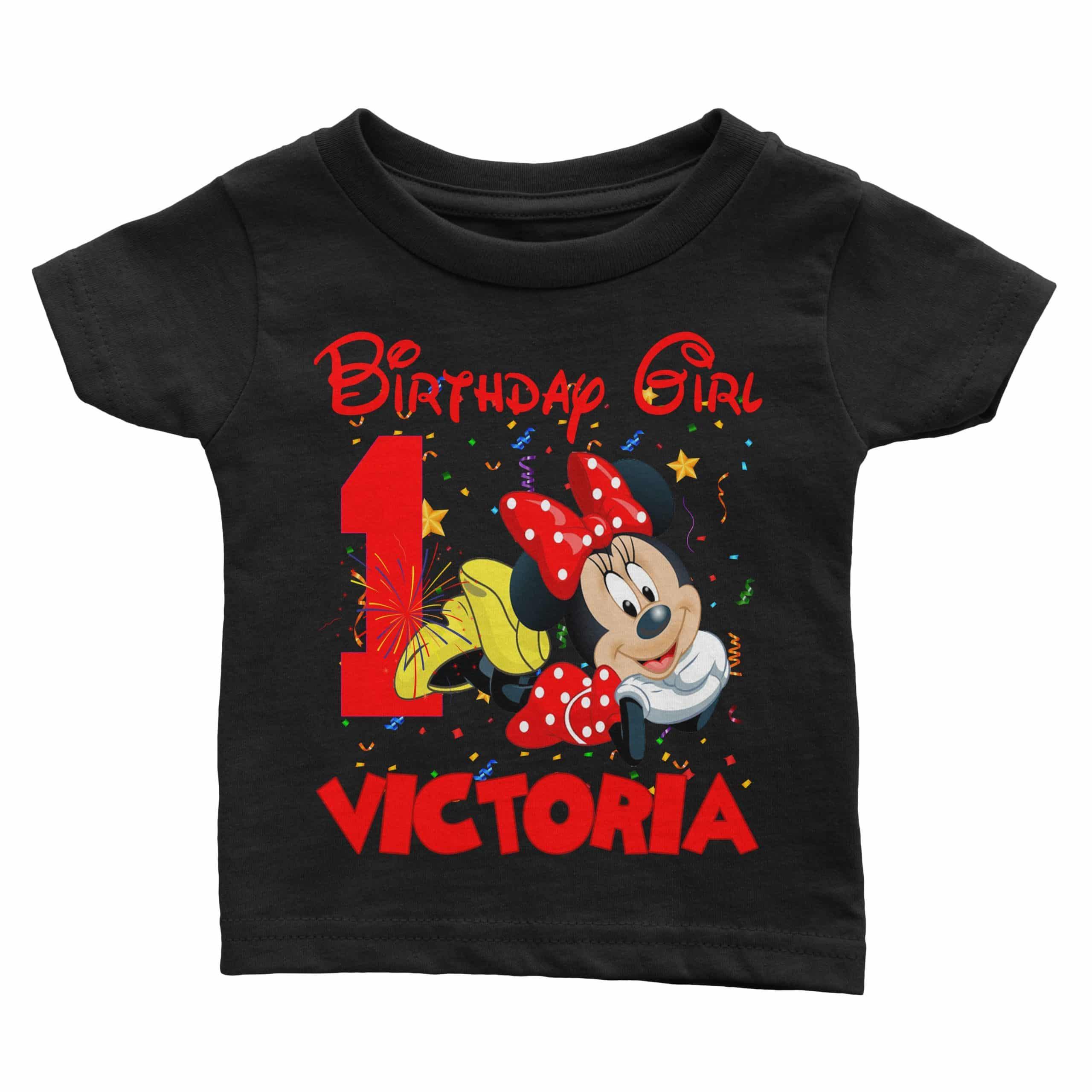 Matching Family Personalized Minnie Mouse Birthday Shirt Cuztom Threadz