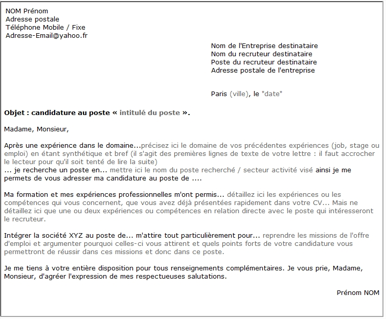 Lettre de motivation | booste ta candidature
