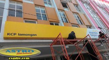 Pemasangan Neon Box Bank Mantap di Lamongan