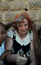 The children liked Margareta's hair!