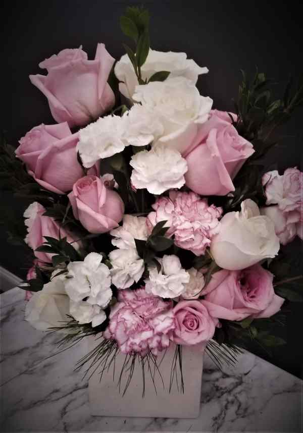 Pink and White Medium Arrangement