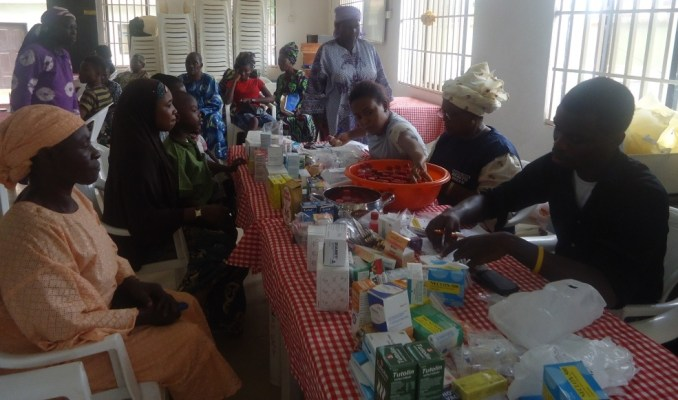 Pharmacists administering drugs