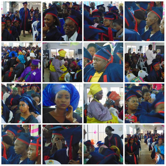 Cross-section of the graduating students