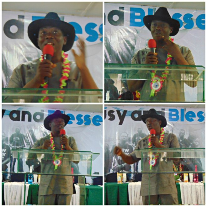 Mr. Goldman E. Kalu during his speech