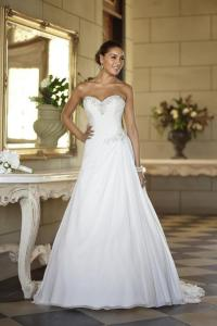 A line wedding dress 2