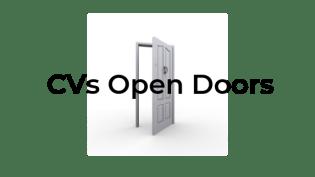 The purpose of a CV is to open doors. Image of open door