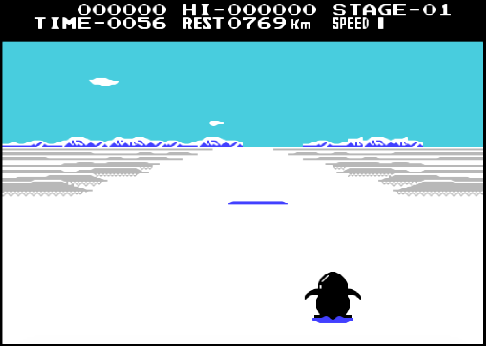 Game NES phần 1 Antarctic Adventure