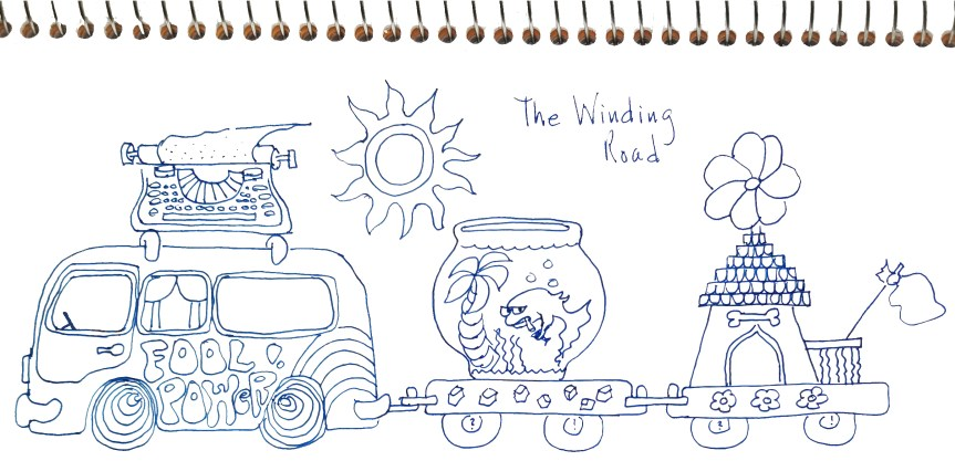 The Winding Road doodle by CV Grehan