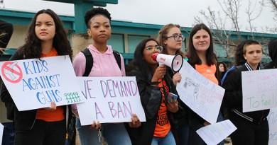 Students demand gun reform at protest