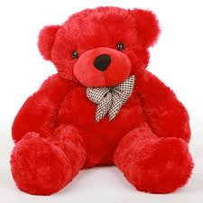 red toy teddy bear