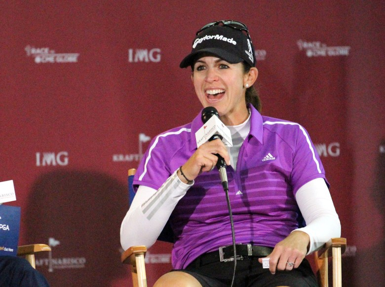 images/Nicole Castrale at the Kraft Nabisco Championship/castrale-talks-to-the-media_13625519895_o