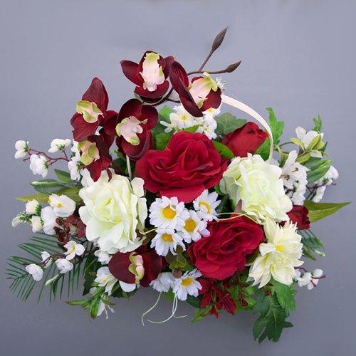 aranžman-umjetno-cvijeće-u-košari