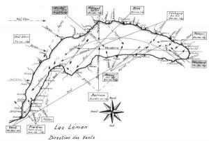 carte des vents lémaniques